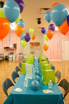 "Birthday ""Monsters Inc"" Party Little Monster Birthday, Monster 1st Birthdays, Monster Birthday Parties, 1st Boy Birthday, 3rd Birthday Parties, First Birthdays, Birthday Ideas, Deco Buffet, Deco Table"