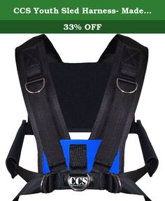 CCS Youth Sled Harness- Made in USA - Limited Time Pricing!! Fast Shipping!! 2-3 Days!! (blue). Top selling harness vest. A bit smaller than our top selling men's harness the CCS Vest. Designed to fit small athletes! Great for youth football, soccer, baseball training for speed, agility, strength, explosive moves, and more! Simple for kids to put on and take off. Coaches love this harness. All clients are able to put on and off easily with little demonstration. Intuitive design. Includes…