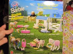 1997 Barbie Stable Friends Mommy and Babies - Pig, Piglet, Goose, Duck, Bed / Pond (NRFP) by Arcotoys Inc and Mattel| eBay RARE