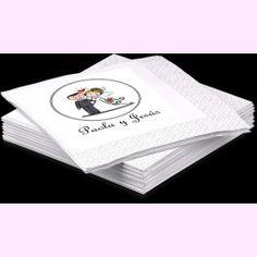 Servilletas #personalizadas con la imagen o texto que vosotros queráis. Un detalle encantador y original para vuestra #boda. PVP: desde 9 €/paquete de 20 uds.