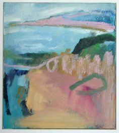 'Calm Bay', Janine Baldwin, oil on canvas, 34 x 30cm. A greeting card and postcard is available of this work, see www.janinebaldwin.com (exhibitions page) for stockists