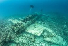 Ghostly ocean-floor graveyard of hundreds of ships and planes makes eerie memorial for WWII attack on Japanese Pacific base Abandoned Ships, Abandoned Cars, Abandoned Vehicles, Aircraft Parts, Ww2 Aircraft, Underwater Life, Underwater Photos, Diving Videos, Planes