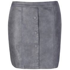 Boohoo Freya Leather Look Button Front Mini Skirt ($18) ❤ liked on Polyvore featuring skirts, mini skirts, short skirts, faux-leather midi skirts, faux-leather pleated skirts, circle skirt and short mini skirts