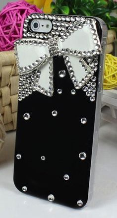 Bling Bow Tie Rhinestone Iphone Case