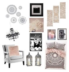 """""""#7"""" by aliesha-esquibel ❤ liked on Polyvore featuring interior, interiors, interior design, home, home decor, interior decorating, WallPops, Magical Thinking, Eichholtz and Bloomingville"""