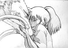 El viaje de Chihiro - Studio Ghibli - Chihiro and Haku