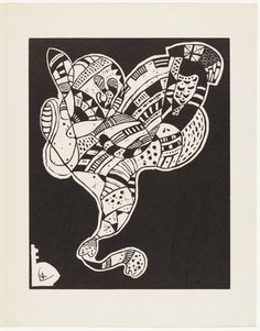 Plate (folio from 10 Origin, Author: Jean (Hans) Arp, Woodcut from an illustrated book with six linoleum cuts, three woodcuts and one lithograph Hans Arp, Arches Paper, Wassily Kandinsky, Sign Printing, Gravure, Art For Sale, Find Art, Original Art, Artsy