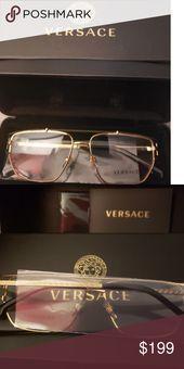 NEW Versace VE1257 1458 MATTE GOLD DEMO LENS 55 The Versace label is renowned fo... Versace Glasses, Versace Brand, Matte Gold, Eyeglasses, Lens, Label, Accessories, Eyewear, Klance