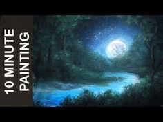 """How To Paint Trees Full Slow Video """"Apple Barrel"""" Acrylics Canvas Lesson Art Class - YouTube"""
