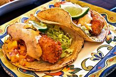 There's a Newf in My Soup!: Step Aside, Coronado Brigantine.Make Way for Tyler's Ultimate Fish Tacos! Entree Recipes, Fish Recipes, Seafood Recipes, Gourmet Recipes, Mexican Food Recipes, Appetizer Recipes, Great Recipes, Favorite Recipes, Ethnic Recipes