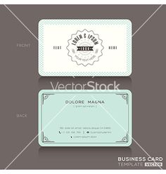 Retro hipster business card design template vector - by kraphix on VectorStock®