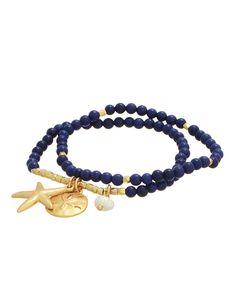 Oceanic Beaded Stretch Bracelet from The Shopping Bag
