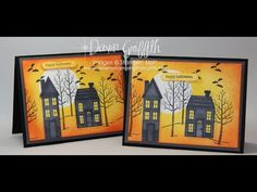 cardmaking video tutorial: ... Holiday Home Halloween card with Dawn ...
