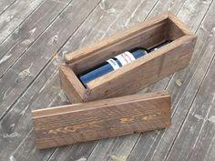 custimized Wood Wine box wedding wine box by rustichandcrafts