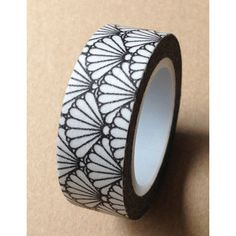 Black Japanese Fan Washi Tape 10M by pikwahchan on Etsy, $2.70