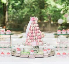 #Candybar zur #Hochzeit | mit #Macarons