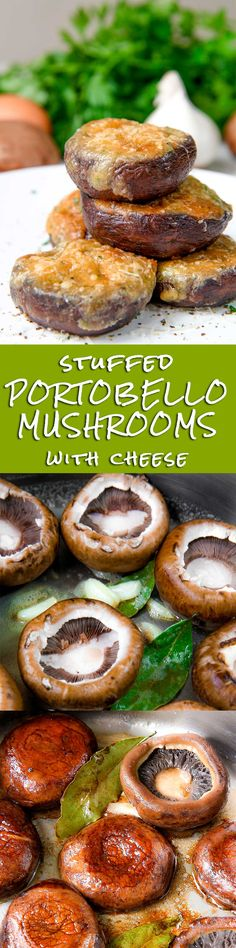 STUFFED MUSHROOMS with Gruyere cheese - Stuffed mushrooms are a perfect recipe for party! Tasty bites flavored with creamy egg and cheese filling, soo good! Stuffing my mushrooms, I opted for Gruyere. I love this cheese, it's perfect to be melted, but Italian Fontina, or Provolone, or Gouda are delicious as well. Same thing for the herbs: today I choose parsley, but sometimes I opt for fresh oregano or dried mint, try them on and let me know! - vegetarian healthy dinner party