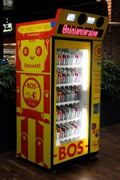 Twitter-powered Vending Machine by Bos Ice Tea  #beverage #engagement #experiential #marketing