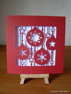 Cartes de Noël boule de Noël décorations de Noël par NineFingerJo