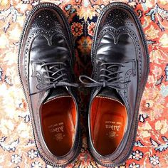 Alden 9751 Black Shell Cordovan Long Wing tip Blucher Cordovan Shoes, Wingtip Shoes, Sock Shoes, Shoe Boots, Preppy Men, Business Shoes, Only Shoes, Mens Fashion Shoes, Crazy Shoes