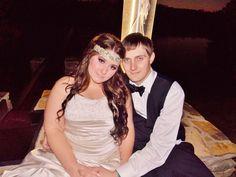 Beautiful married couple! #nightwedding #bridalmakeup #weddingphotography #bridalhair #bohemian #pinkpewter #headband #handsomegroom #weddinghair #weddingmakeup #brideandgroom #beautifulbride #longhair #bridalphotography #weddingatwater #beautifulvenue  #weddingdress