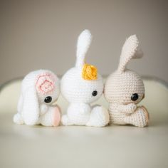 Celebrate the arrival of Spring with these beautiful crocheted bunnies! Free pattern and step-by-step blog post available! thanks so as these rock! XOX