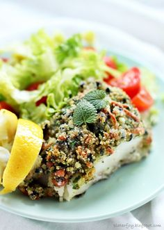 Plate of Joy Salmon Burgers, Avocado Toast, Broccoli, Food And Drink, Plates, Fish, Vegetables, Cooking, Breakfast