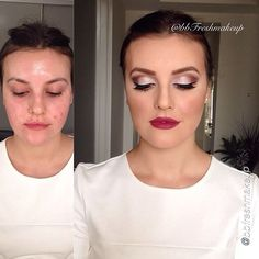 """It's #MotivesMonday! Amazing transformation! """"Absolutely no filter or edit""""! Face correction and contouring using Motives #foundations.""""  SHOP HERE: http://www.Net2Cosmetics.com"""