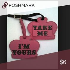 "Kathy Van Zeeland Luggage tag Super cute new never used luggage tag. One side says ""Take me"" the other side says ""I'm Yours"", concealed flap lifts to add your contact information. Kathy Van Zeeland Accessories"