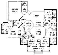 Springhill Plantation-4001 House Plan - Plan Number: BHG-3608.  This one is really neat.