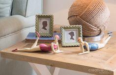 Seaside Tabletop, Bathing Beauties & Scalloped Edage Photo Frames ★ Creative Co-Op Home
