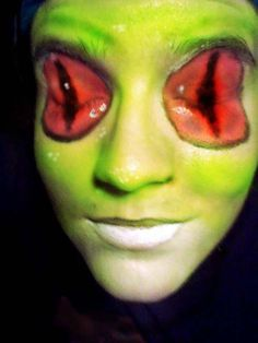 2011 Red Eyed Tree Frog Makeup  by RobbiLee100 http://robbilee100.deviantart.com/art/Red-Eyed-Tree-Frog-Makeup-215865019