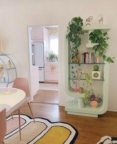 Apartment Interior, Room Interior, Home Interior Design, Pastel Room, Pastel House, Casa Clean, Art Deco, Pretty Room, Aesthetic Room Decor