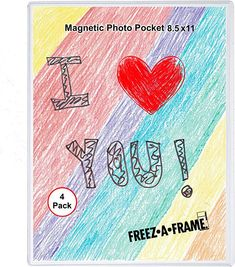Amazon.com: 4 Pack 8.5 X 11 Magnetic Picture Frame Use for 8 X 10 Photo, Children's Artwork Frame, Magnetic Calendar