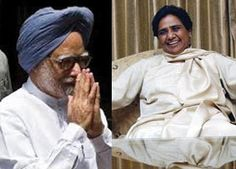 Prime Minister Manmohan Singh reached out to BSP supremo Mayawati ahead of winter session of Parliament, but she remained evasive on her party's stand on plans by Trinamool Congress to bring a motion against FDI.