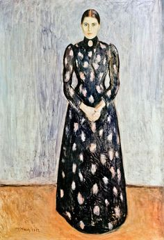 1892 Portrait of Inger Munch oil on canvas 172.5 x 122.5 cm National Art Museum, Oslo
