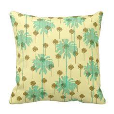 Paradise Palm Trees Pillow