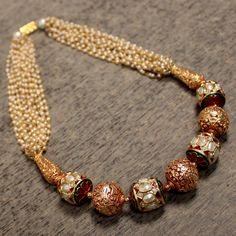 Shop for traditional Indian and Mughal Jewelery India Jewelry, Bead Jewellery, Pearl Jewelry, Antique Jewelry, Jewelry Sets, Beaded Jewelry, Jewelery, Beaded Necklace, Jewelry Patterns