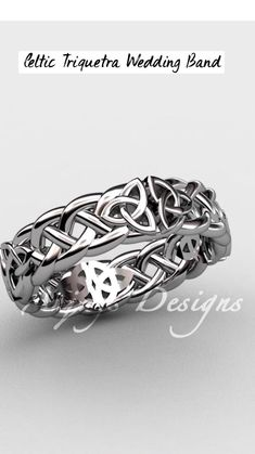 Modern Wedding Rings, Celtic Wedding Rings, Celtic Rings, Celtic Knot, Wedding Ring Bands, Ring Shots, Triquetra, Beautiful Engagement Rings, Celtic Designs