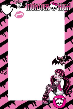 Monster High Picture Frame by ~ShaiBrooklyn on deviantART Cumple Monster High, Monster High Birthday, Monster High Party, Ninja Turtle Birthday, Ninja Turtle Party, Monster High Dolls, Monster High Bedroom, Personajes Monster High, Monster High Pictures