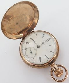 A c1884 Elgin grade 94, model 1, class 52, 8s, 11J 10K gold pocket watch which is 41mm in diameter & has an overall weight of 57 grams. Only 272,999 were produced during this year. The signed movement has a date serial number 1356485 for the year c1884. | eBay!
