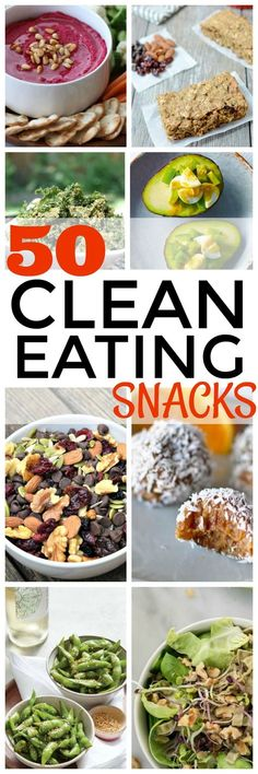 Healthy snacks can be healthy, easy and fast! Check out this huge list of clean eating snacks. Great post!!