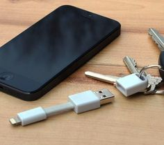 Nomad Lightning Cable the 3″ Apple lightning cable for your key ring.