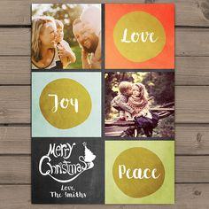 Merry Christmas Photocard Printable Christmas door Anietillustration