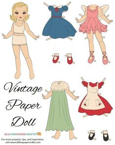 If you grew up with paper dolls, then this Vintage Veronica Printable Paper Doll is going to bring you right back to childhood. With this vintage-style printable paper doll, you'll get this beautiful blonde brown-eyed girl and all of her outfits. Paper Doll Template, Paper Dolls Printable, Paper Dolls Clothing, Doll Clothes, Rolled Magazine Art, Paper Crafts Magazine, Handmade Birthday Cards, Handmade Cards, Vintage Paper Dolls