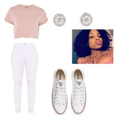 """""""her way // partynextdoor"""" by tiaramb11 ❤ liked on Polyvore featuring Topshop and Converse"""