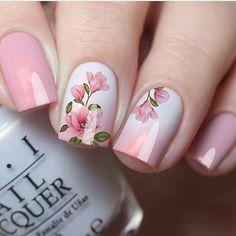 nail art designs for spring \ nail art designs ; nail art designs for spring ; nail art designs for winter ; nail art designs with glitter ; nail art designs with rhinestones Fall Nail Art Designs, Flower Nail Designs, Pink Nail Designs, Nails Design, Pink Nail Art, Floral Nail Art, Pink Nails, Matte Nails, Cute Spring Nails
