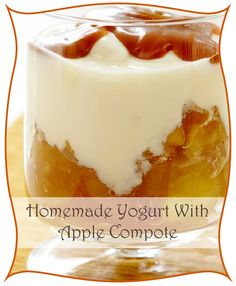 Homemade Yogurt With Apple Compote Apple Compote Recipe, Low Acid Coffee, Homemade Yogurt, Coffee Recipes, Halloween Treats, Special Occasion, Pudding, Healthy, Holiday