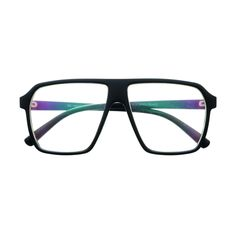 Designer Retro Style Colorful Clear Lens Flat Top Aviator Glasses A1160