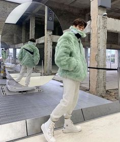 Behind The Scenes By lessiswore Fashion Now, Indie Fashion, Green Fashion, Mens Fashion, Fashion Outfits, Stylish Mens Outfits, Lazy Outfits, Winter Outfits, Cute Outfits